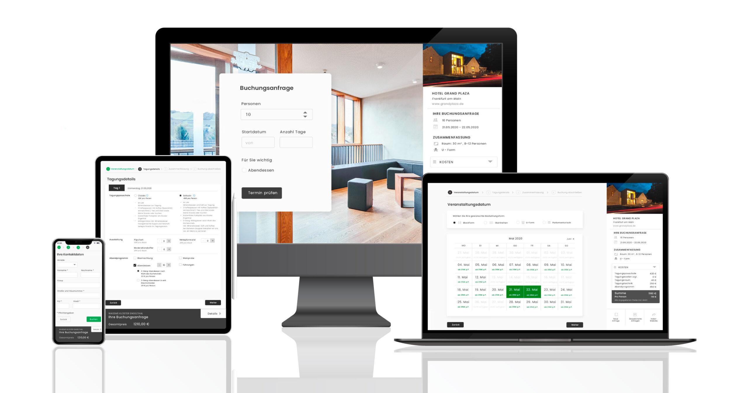 Booking Engine für Tagungsräume