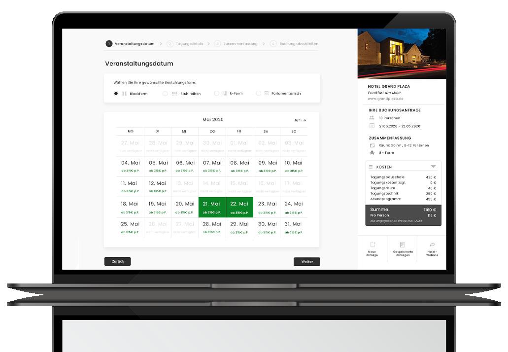 Preiskalender Booking Engine